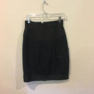 Nanette Lepore black mini skirt